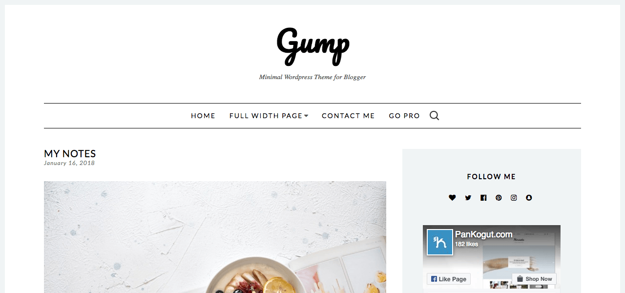 best-free-wordpress-theme-food-bloggers-gump