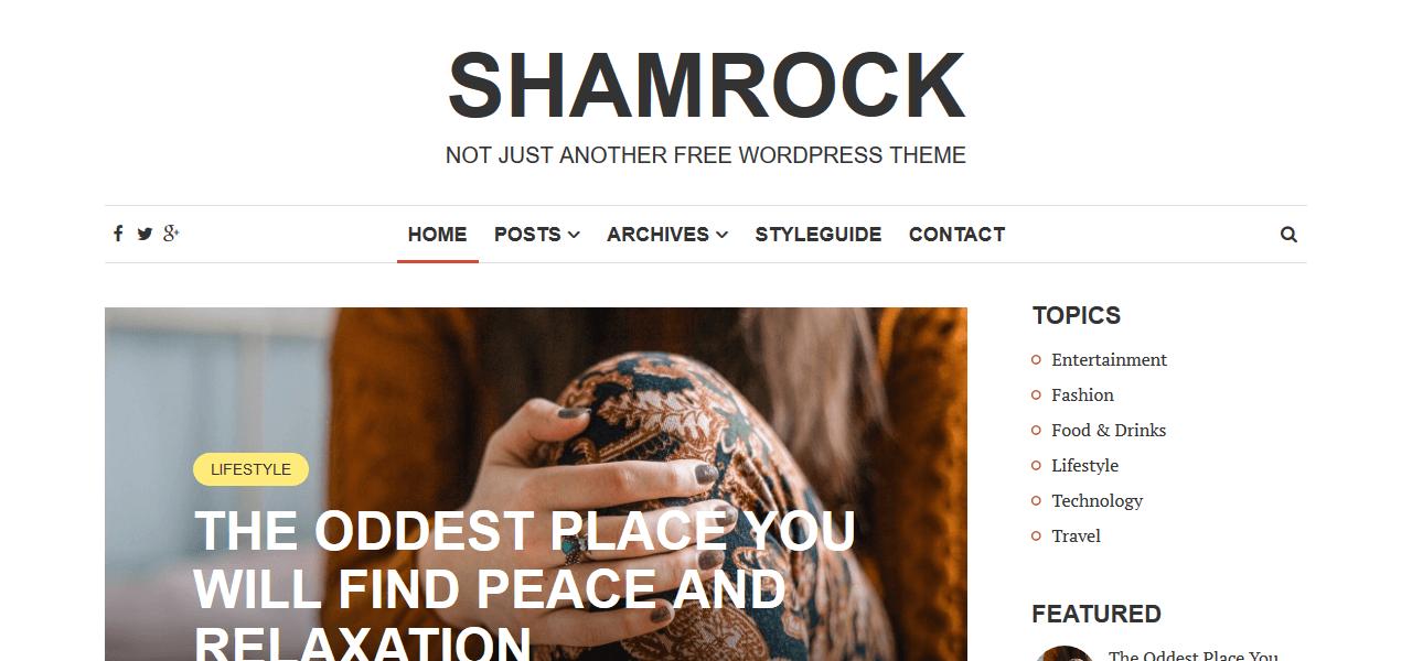 best-free-wordpress-theme-food-bloggers-shamrock