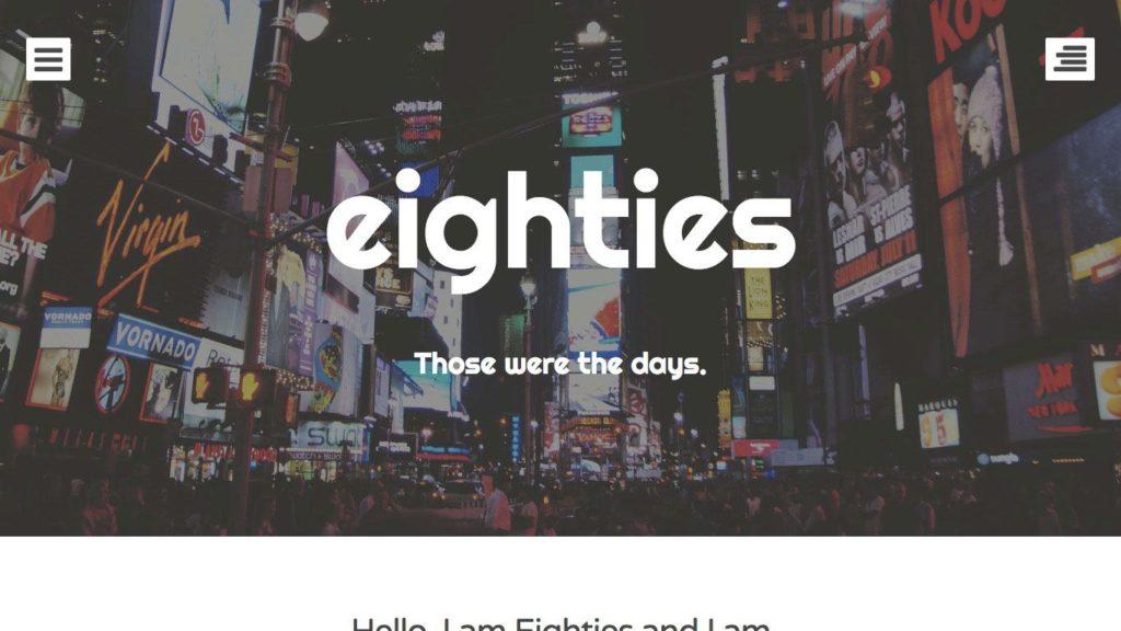 eighties-wordpress-theme